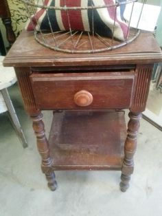 Reloved Rubbish: Old Dresser and Night Stand Coming up Roses
