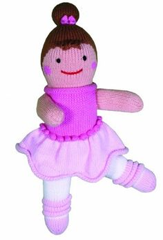 Zubels Ballerina  Bella 12-inch Hand-Knit Doll by Zubels. $23.99. Every Zubels character is made of 100% hand-knitted cotton and colored with dyes. Twirly cute Bella dances in the spotlight. She is available in 4,7,12,24 and 36-inch sizes and is supple soft. Zubels are hand knit and not mass produced. This whimsical plush has such wonderful expressions they'll make you want to collect them all. From the Manufacturer                Every Zubels character is made o...