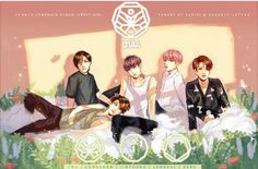 B1A4 FANART-SWEET GIRL It's funny, because the art is for Sweet Girl, but their poses are the same for on of the Who Am I posters. Trust me, I have the poster on my wall.