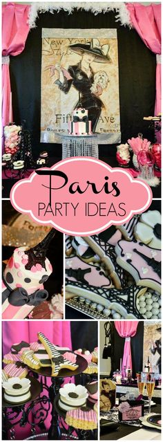 Here's a beautiful Paris spa party for a little diva's birthday! See more party ideas at CatchMyParty.com!