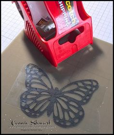 Card Making Tips, Card Making Tutorials, Card Making Techniques, Making Ideas, Embossing Techniques, Rubber Stamping Techniques, Glitter Cards, Butterfly Cards, Scrapbook Cards