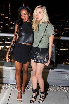 Perrin Paris New York Launch - Bazaar's Chrissy Rutherford and Anastasia Ganias