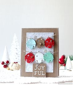 SSS Wednesday Challenge: Anything Goes Stamped Christmas Cards, Simple Christmas Cards, Christmas Card Crafts, Christmas Makes, Xmas Cards, Handmade Christmas, Holiday Cards, Crochet Christmas, Diy Cards