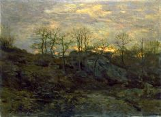 """Edge of the Forest, Twilight,"" Charles H. Davis, ca. 1890, oil on canvas, 20 x 27 1/8"", Smithsonian American Art Museum."