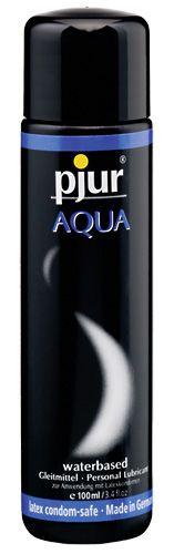 Pjur Aqua - 100 ml fra Pjur - Sexlegetøj leveret for blot 29 kr. - 4ushop.dk - Pjur Aqua er en drøj vandbaseret glidecreme. Holder glide effekten i lang tid og er drøj i brug. Plejer og beskytter udtørret hud og tilføjer fugtighed.