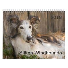 2018 Silken Windhounds (Reclining) Calendar