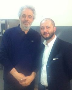 With Nicola Piovani after the Concert