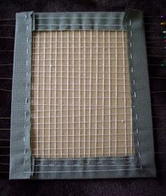 Kiwi gets Crafty: Home Framing: Lace Method Tutorial
