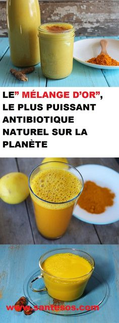 "LE"" MÉLANGE D'OR"", LE PLUS PUISSANT ANTIBIOTIQUE NATUREL SUR LA PLANÈTE Nutrition, Food And Drink, Healthy, Parents, Motivation, Tips, Green, Letter Sample, Letters"