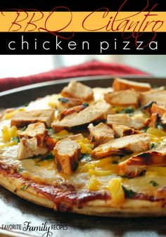 Healthy Recipes : This BBQ Chicken Pizza is my favorite thing to order at California Pizza Kitchen... #Recipes