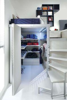 Loft teenage bedroom TIRAMOLLA 909 Tiramolla Collection by TUMIDEI