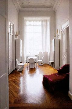 Ghesquiere S Paris French Interiors Apartments Wood Floors Apartment Chevron