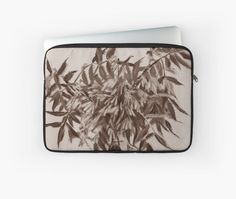 """""""Ash-tree, monochrome version, floral sketch"""" Laptop Sleeves by clipsocallipso   Redbubble"""
