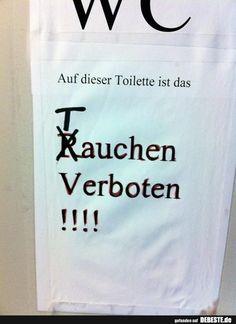Auf dieser Toilette ist das.. | Lustige Bilder, Sprüche, Witze, echt lustig