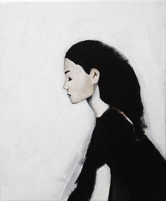 Original painting. Acrylic on canvas. Figurative painting. Modern. Woman. Lady. Minimlist.