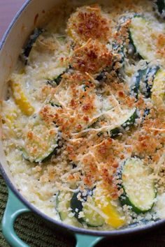 Zucchini and Summer Squash Casserole - poet in the pantry #summersoiree