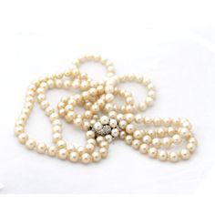 vintage pearl necklace double strand bridal wedding ($40) ❤ liked on Polyvore
