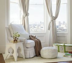 love the mainly white decor