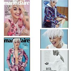 #RitaOra gets a double cover for the July 2015 issue of #MarieClaire magazine!  #OooLaLaBlog #gogirl #rp #celebmagazinecovers #bloghive