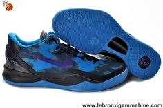 the best attitude 36225 31d0b Sale Discount 555035-010 Nike Zoom Kobe VIII (8) Black Blue Purple Sports