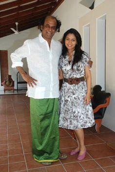 Rajinikanth and Pooja
