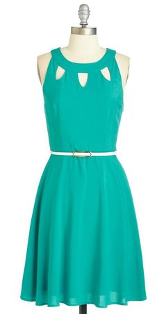 lovely turquoise cutout dress