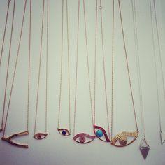 Jennifer Zeurner eye necklaces