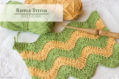 How To: Crochet The Ripple (Chevron) Stitch - Easy Tutorial