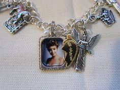 Twin Peaks Charm Bracelet inspired by the by TheHoneyBeeCrafts, $35.00