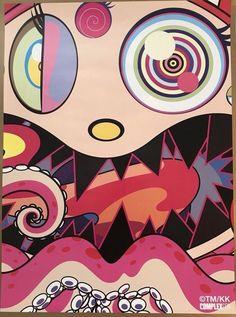 Takashi Murakami Complexcon 2017 Hungry Poster Print 18 x 24 ships in tube Murakami Artist, Takashi Murakami Art, Graphic Design Illustration, Illustration Art, Pop Art, Notebook Art, Hypebeast Wallpaper, Famous Art, Photo Wall Collage