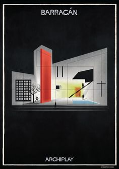 federico babina& latest architectural illustration project sees the work of famous creatives transformed into a scenographic mise en scène. Famous Architecture, Architecture Panel, Architecture Portfolio, Concept Architecture, Architecture Design, Drawing Architecture, Building Art, Building Design, Bauhaus