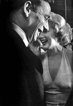Marilyn and Yves Montand at a press conference for Let's Make Love, 16 January, 1960.