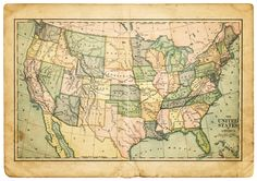 Vintage Map of the United States of America, definitely a great conversation point.
