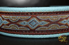 Handmade Martingale Leather Dog Collar LAVA by by dogsartcollars