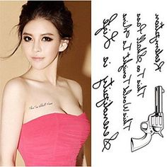 OOFAYZBL 2016 New Water Transfer Pistol Temporary Tattoo Sticker Body Art Sexy Product. Tattoo sticker use green ink and glue, is harmless to human body. Paste the successful design with waterproof and sweat-proof function, will not fall off in the shower, but do not rinse with hot water for too long, should not be rubbed with. Different parts of the pattern paste, duration of different patterned after 3-5 days began to fall under normal usage conditions, feet and other parts can be kept…