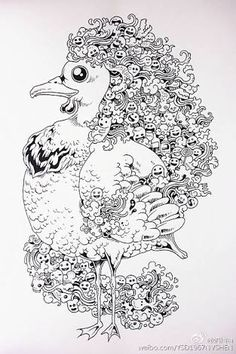 Doodle Invasion Coloring Book Kerbyrosanes
