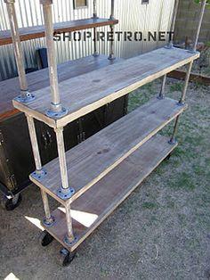 Industrial inspired DIY shelving...