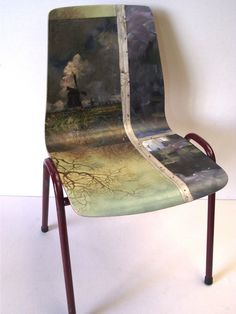 Image of Painting Chair - Windmill (free shipping)