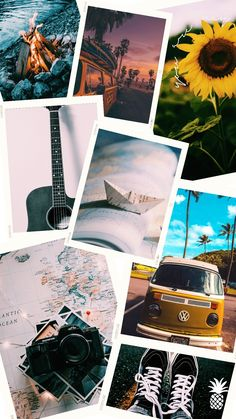 Camera Wallpaper, Photo Wallpaper, Wallpaper Backgrounds, Photo Collage Template, Photo Wall Collage, Scenery Photography, Creative Photography, Polaroid Collage, Polaroids
