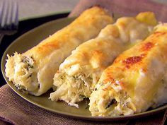 Crab and Ricotta Cannelloni. Instead of white Béchamel I used a Lobster Bisque from Costco. Yammm!