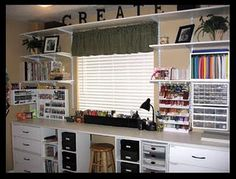 Shelving for craft room and/or garage