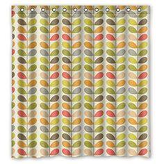 Colorful feuilles Orla Kiely Custom personnalisée imperméable rideau de douche rideau de bain Rideaux de Salle de Bain 152,4x 182,9cm