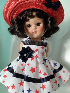 My Stars! dress and hat for Ginny dolls.