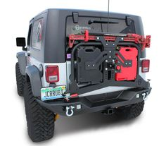 JcrOffroad: JcrOffroad Adventure Tire Carrier Rear Bumper Upper - Jeep Wrangler & Wrangler Unlimited JK (07-16)
