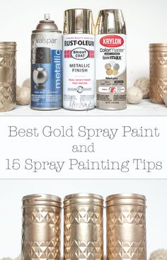 Have you bought gold spray paint and its just not gold?? Gold spray paint comparison plus spray paint tips!