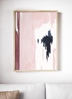 """Excellent """"modern abstract art painting"""" information is readily available on our internet site. Have a look and you wont be sorry you did. Red Wall Art, Abstract Wall Art, Pink Abstract, Abstract Paintings, Pink Painting, Modern Art Prints, Modern Wall, Modern Decor, Pink Art"""