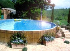 Above Ground Pool Landscape Designs | ... pool then above ground pool landscaping is the best idea then you