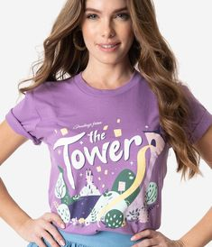 The Lost Bros Purple Greetings From The Tower Unisex Tee – Unique Vintage Disney Dress Up, Disney Outfits, Model Pictures, Disneybound, Disney Style, Unique Vintage, Graphic Tees, Cool Outfits, Style Inspiration