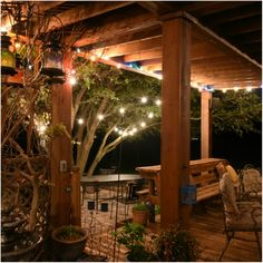 Outdoor Entertaining in my world is a party on the patio with lights, flowers, several conversation areas, a dance floor, great friends, family and potluck!