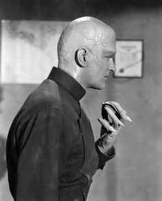 James Arness as the super carrot from outer space in the Howard Hawks production of THE THING (1951)